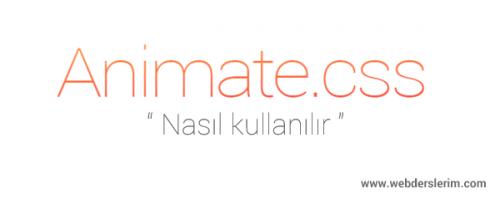 Animate.css kullanımı